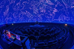 Architecture Interiors Photography: Montreal Rio Tinto Alcan Planetarium at the blue hour
